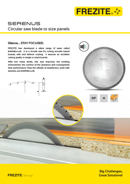 SERENUS Circular saw blade to size panels